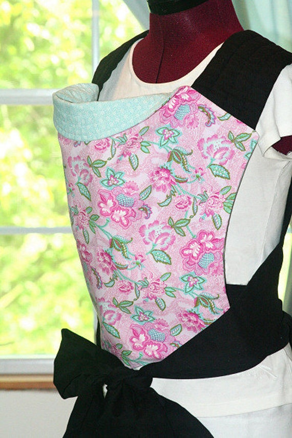 Mei Tai Baby Carrier - Reversible in Pink and Blue - Handmade