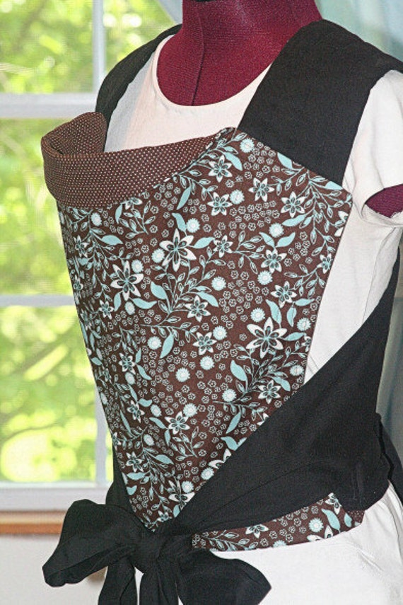 Mei Tai Baby Carrier - Reversible in Brown and Blue - Handmade