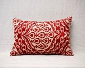 """handmade ikat velvet pillow cover - 15.75"""" x 22.83"""" - free shipment with UPS - 01363-105"""