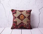 """hand woven vintage kilim pillow cover - 15.75"""" x 15.75"""" - free shipment with UPS - 01055-59"""