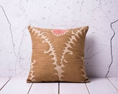 """handmade vintage suzani pillow cover - 15.55"""" x 15.94"""" - free shipment with UPS -00799-48"""