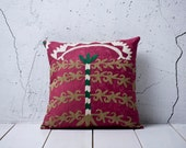 "handmade vintage suzani pillow cover - 15.35"" x 15.79"" - FAST shipment with UPS -00913-48"