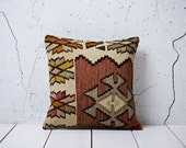 "reserved - hand woven vintage kilim pillow cover - 15.75"" x 15.75"" - FAST shipment with UPS - 02172-59"