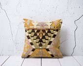 "hand woven vintage kilim pillow cover - 15.75"" x 15.75"" - free shipment with UPS - 02204-59"
