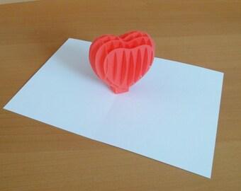 """popup card """"Heart"""""""