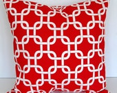 Decorative pillow cover lipstick red geometric Gotcha throw cushion cover
