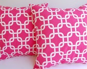 """Throw pillow covers 16"""" x 16"""" set of two Candy Pink Gotcha"""