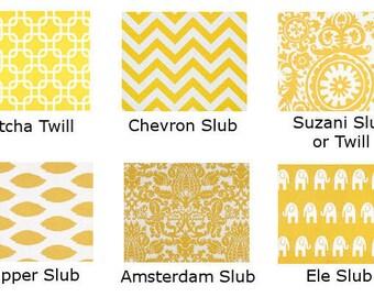 Yellow Throw pillow cover corn yellow,  you choose fabric, chevron ikat elephants suzani amsterdam