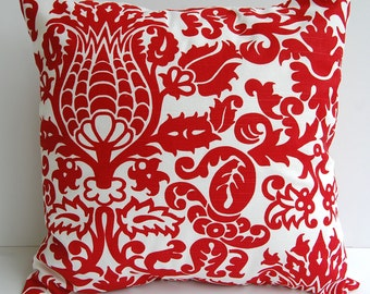 Red throw pillow cover one decorative pillow cover red and white Amsterdam