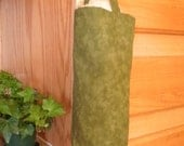Kitchen Helper---Hanging Plastic Bag Holder/Dispenser (Olive Green)