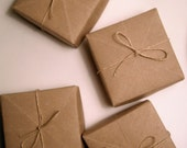 Kraft Box Set Of 4 Origami Masu Box Giftwrap Storage Favor Treat Box Natural Brown Heavyweight Recycled