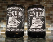 "Dogfish Head ""Squall IPA"" Beer Glasses  --Recycled / Repurposed--"