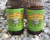 """Sierra Nevada  """"Pale  Ale"""" Beer Glass  --Recycled / Repurposed--"""