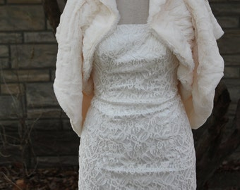 faux fur shrug bolero Wrap,wedding bolero, bridal wrap