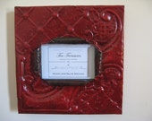 4 x 6 antique red hot tin picture frame