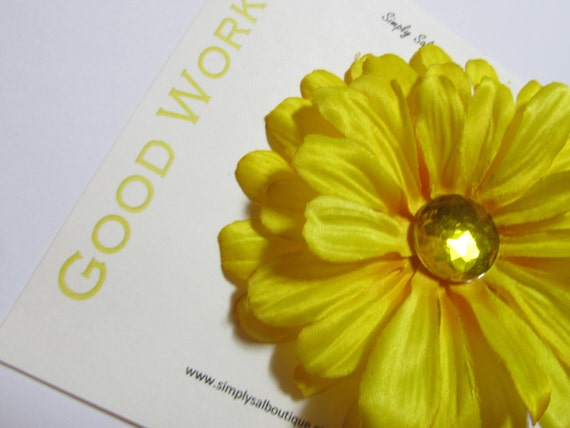 Hair Flower Clip: LDS Young Women Value -- Good Works