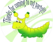 "Caterpillar Stickers - Sheet of 20 - 2"" round"