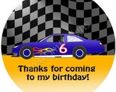 """Stock Car Racing Stickers - Sheet of 20 - 2"""" round"""