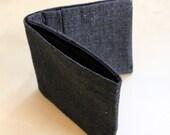 Black Denim Billfold Wallet