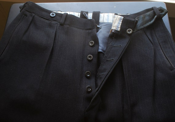 Expires Today----- 1920's- 30s heavyweight  Wool Trousers---