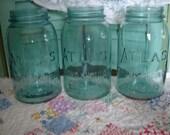 Vintage Rustic Wedding Table Mason Jars