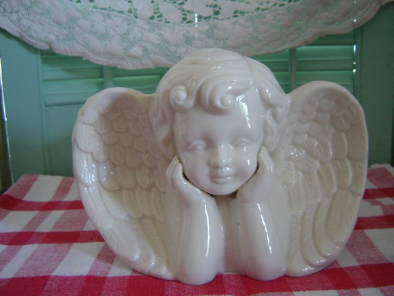 Vintage Angel Planter Valentine Patio Gardening Decor