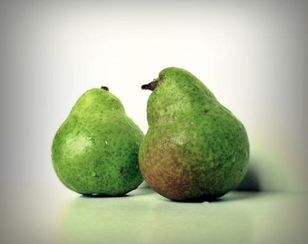 Pear Photo Pear Love 8x8 Signed Print Fruit Green Wall art Valentines Day