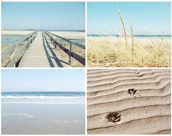 Ocean Photography Set of 4 4x6 Prints Beach Photos Photo Set blue ocean