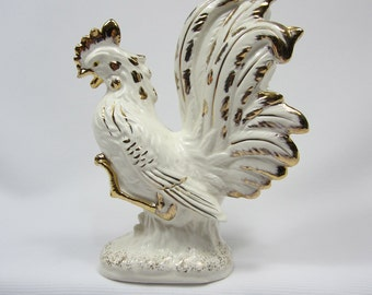 Vintage Ceramic Rooster - made in Japan and purchased in Canada in 1946
