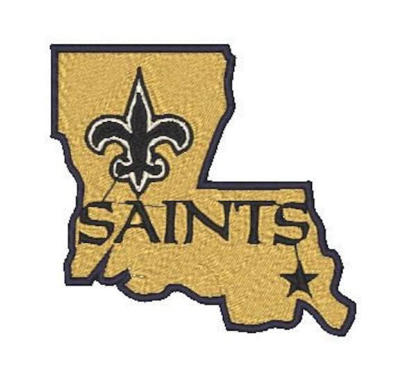 New Orleans Design: New Orleans Saints Embroidery Design