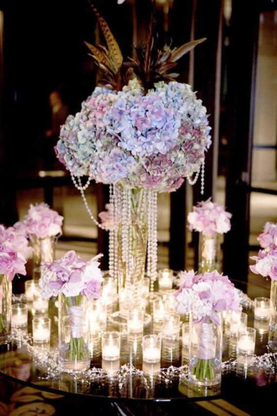 Items similar to tall wedding flower centerpiece hydrangea