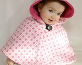 Toddler Capelet - Pink Plaid 18M