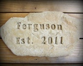 Custom Name Rock Sign Hand Crafted for Home or Garden, WEDDING GIFT, Mother's Day or Father's Day Gift