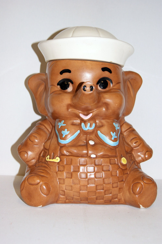 Vintage twin winton elephant cookie jar - Vintage elephant cookie jar ...