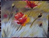 """Modern Art Painting, """"Autumn Breeze"""""""