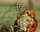 Rustic Bohemian Beauty -Vintage Inspired Flower Hair Clip - CUSTOM