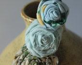 Bohemian Rosies in a Row- Handmade Hair Clip