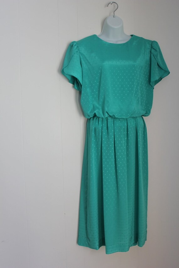 Teal on the Town Vintage Dress