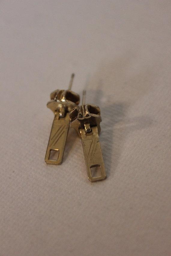 Funky Retro Zipper Earrings