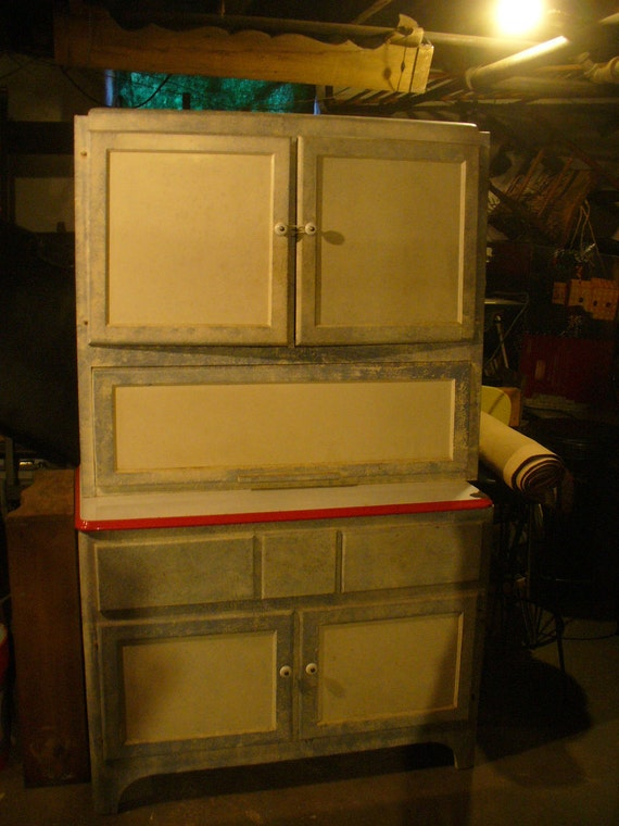 Items similar to antique sellers hoosier 1930 kitchen for Antique kitchen cabinets with flour sifter