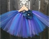 Emma Tutu in Purple& Blue - Party tutu-Flower girl-Valentines--Custom Made/2T-5/6