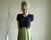 "Dress ""Salva"" in meadow green-navyblue"