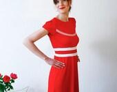 "Dress ""La dolce vita"", red-white - jekyllundkleid"