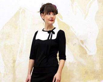 "Dress ""Natalie"", black-cremewhite"
