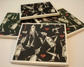 If I Only Had A Heart - Handmade Coasters - Set of 4