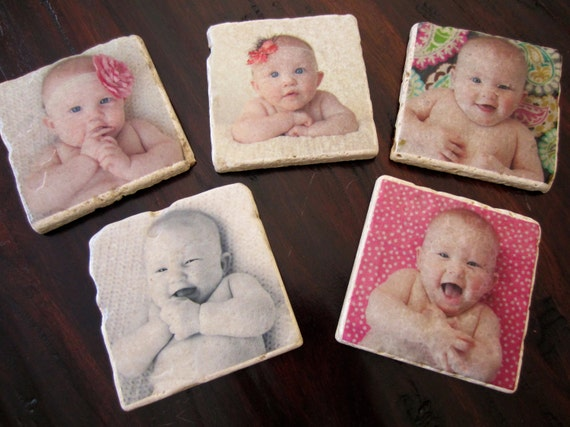 RESERVE for DANNIELE - Custom Coasters - Set of 6