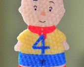 Calliou & Number Beeswax Birthday Candle