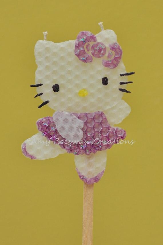 Items similar to ballerina hello kitty beeswax birthday candle purple on etsy - Ballerine hello kitty ...