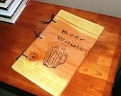 Brew Log or Beer Book Notebook - Journal Wood Burnt - Custom Cover Work