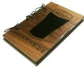 Beer Book Journal - Brew Log Notebook - Walnut Hardwood - Custom Cover Work